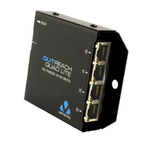 OUTREACH QUAD LITE POE Powered Network Switch